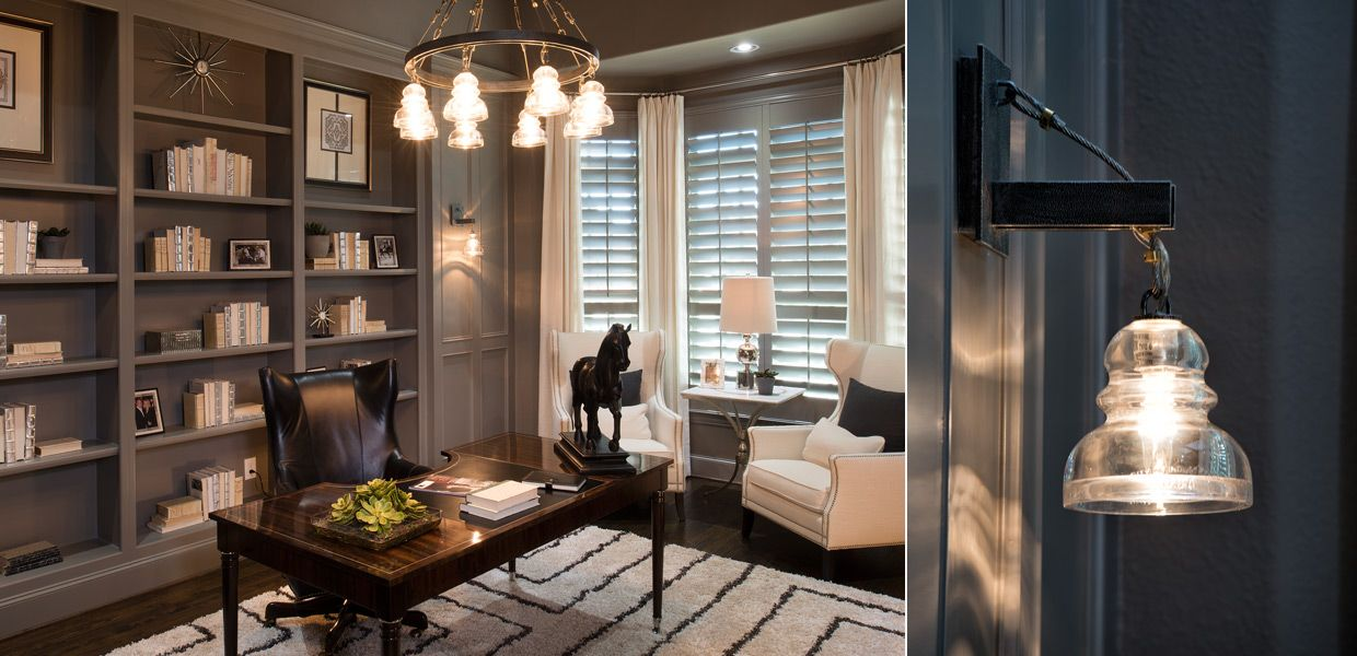 TRADITIONAL HOME OFFICE | LAKES OF LAS COLINAS | LAS COLINAS, TX