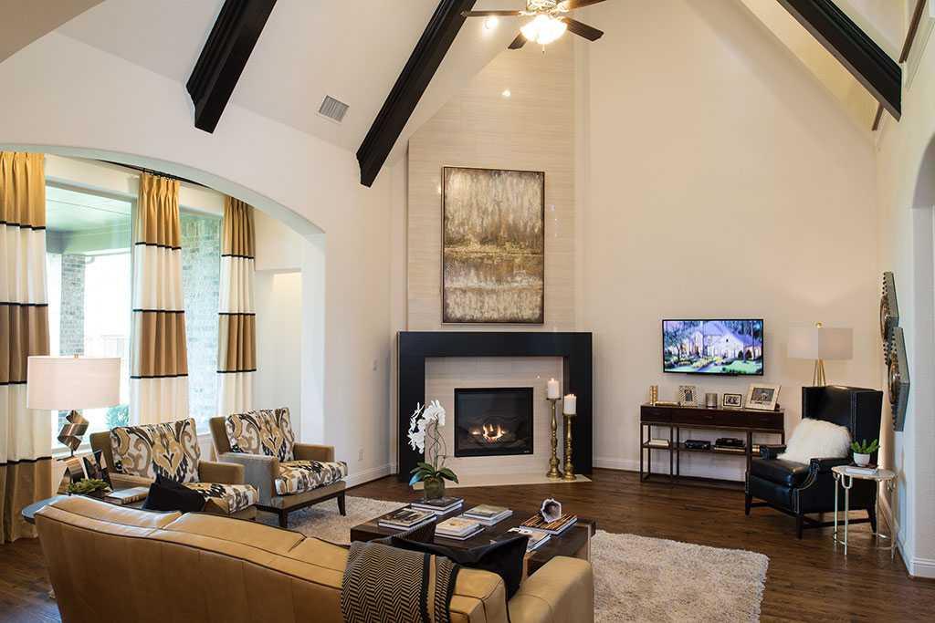 Representative Photo   Family Room. New Home Plan 297 in Prosper  TX 75078
