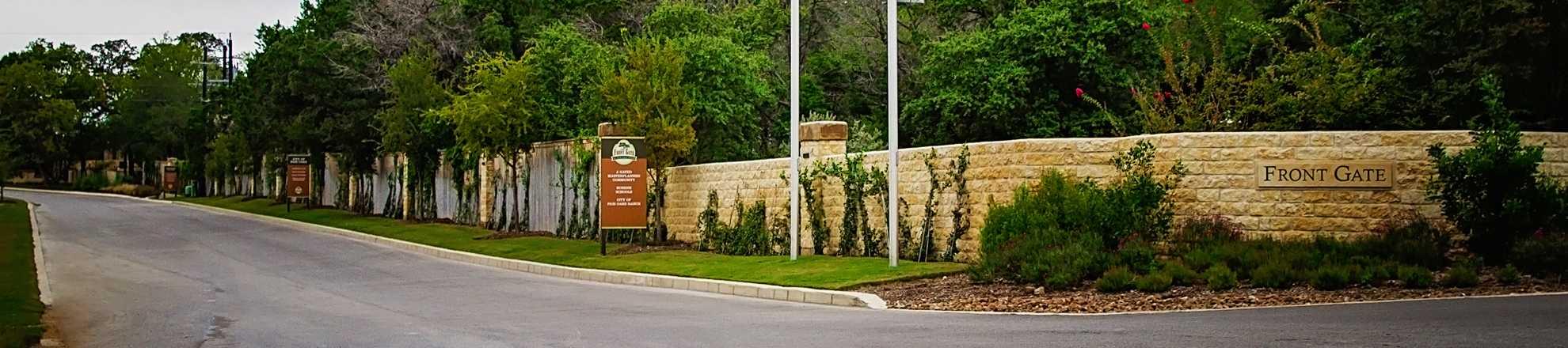 Model Home In San Antonio Texas Front Gate In Fair Oaks