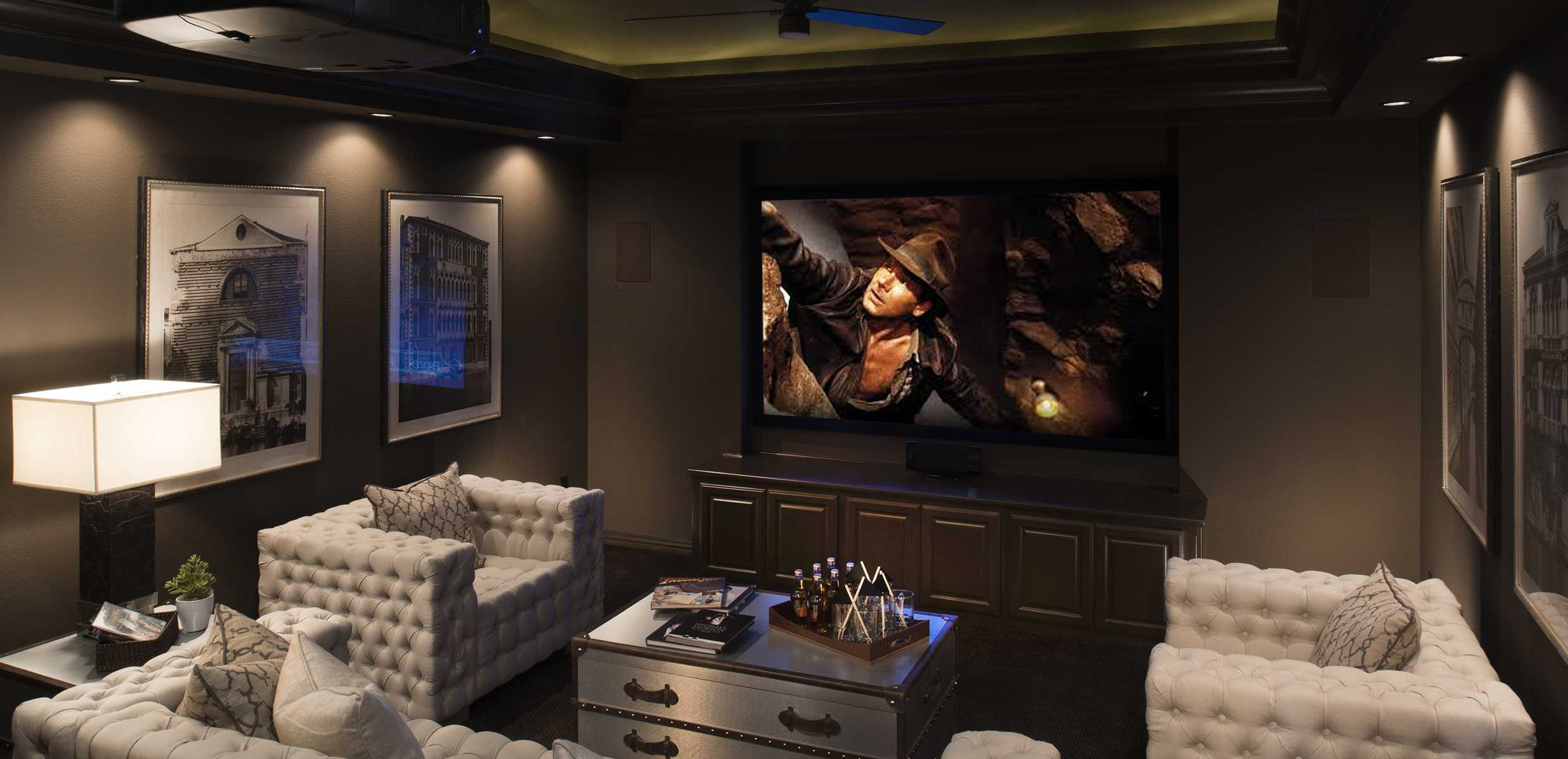 MEDIA ROOM | FAIRWAYS OF GENTLE CREEK | PROSPER, TX