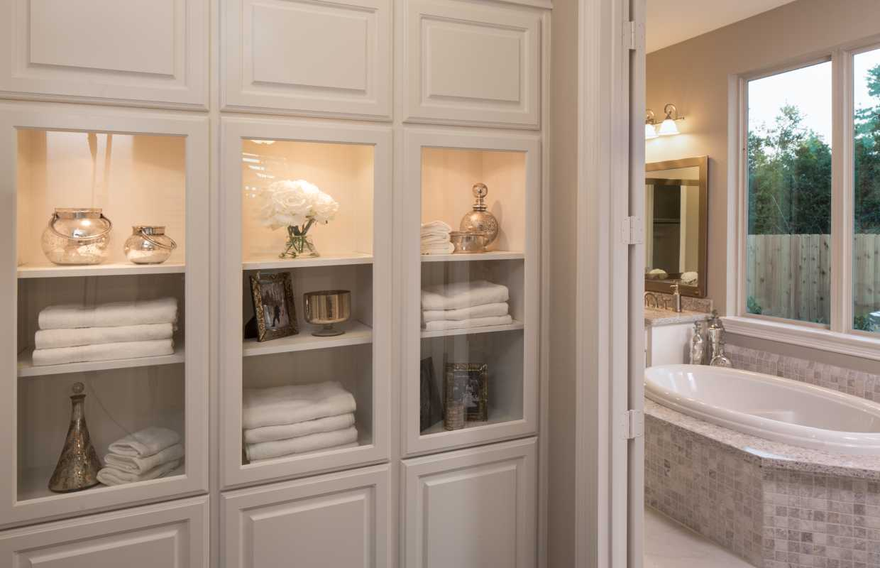 bathroom and kitchen cabinets model home in houston valencia on cypress 15502