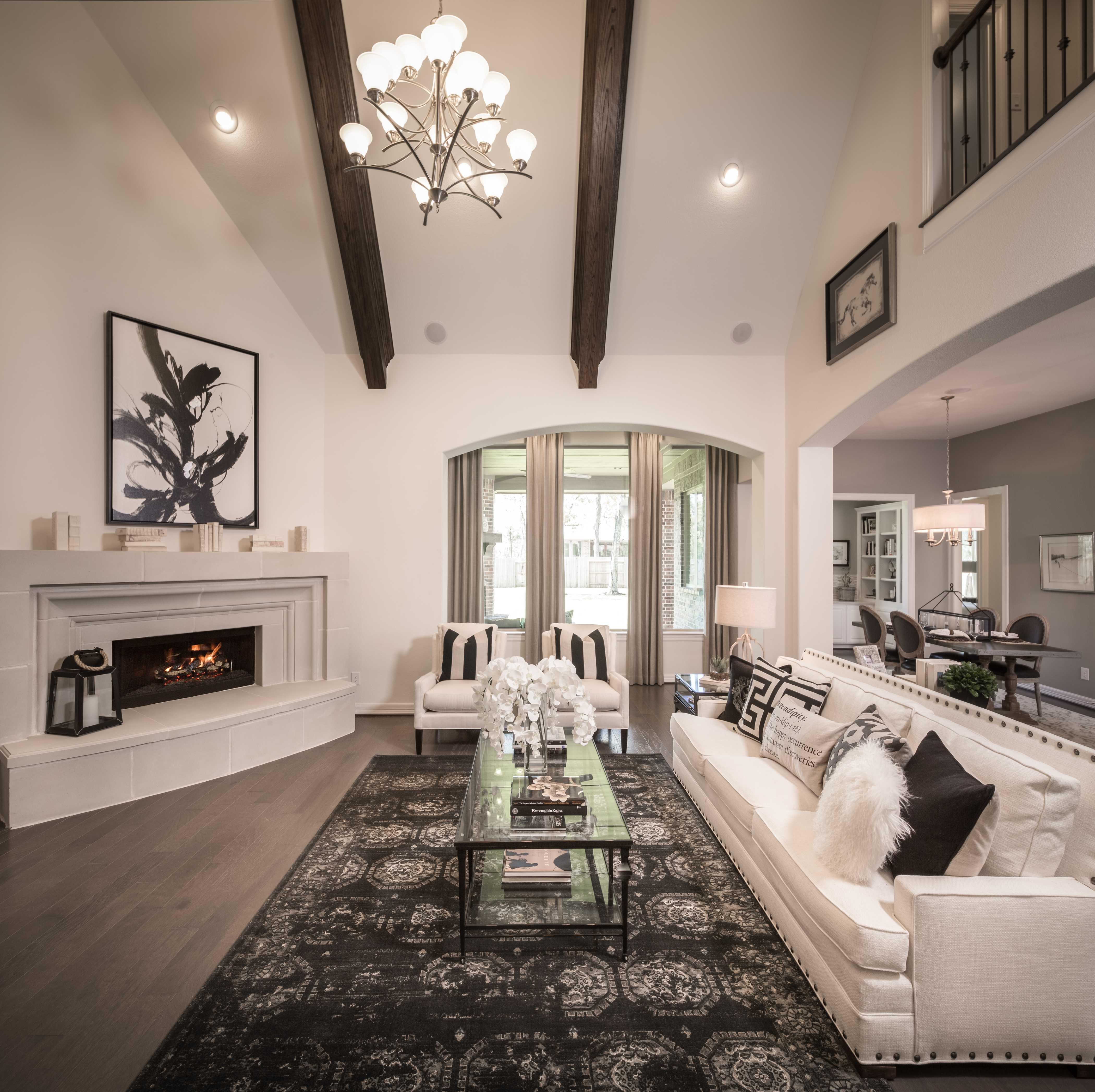 Representative Photo   family room. Model Home in Houston Texas  Sienna Plantation 75s community