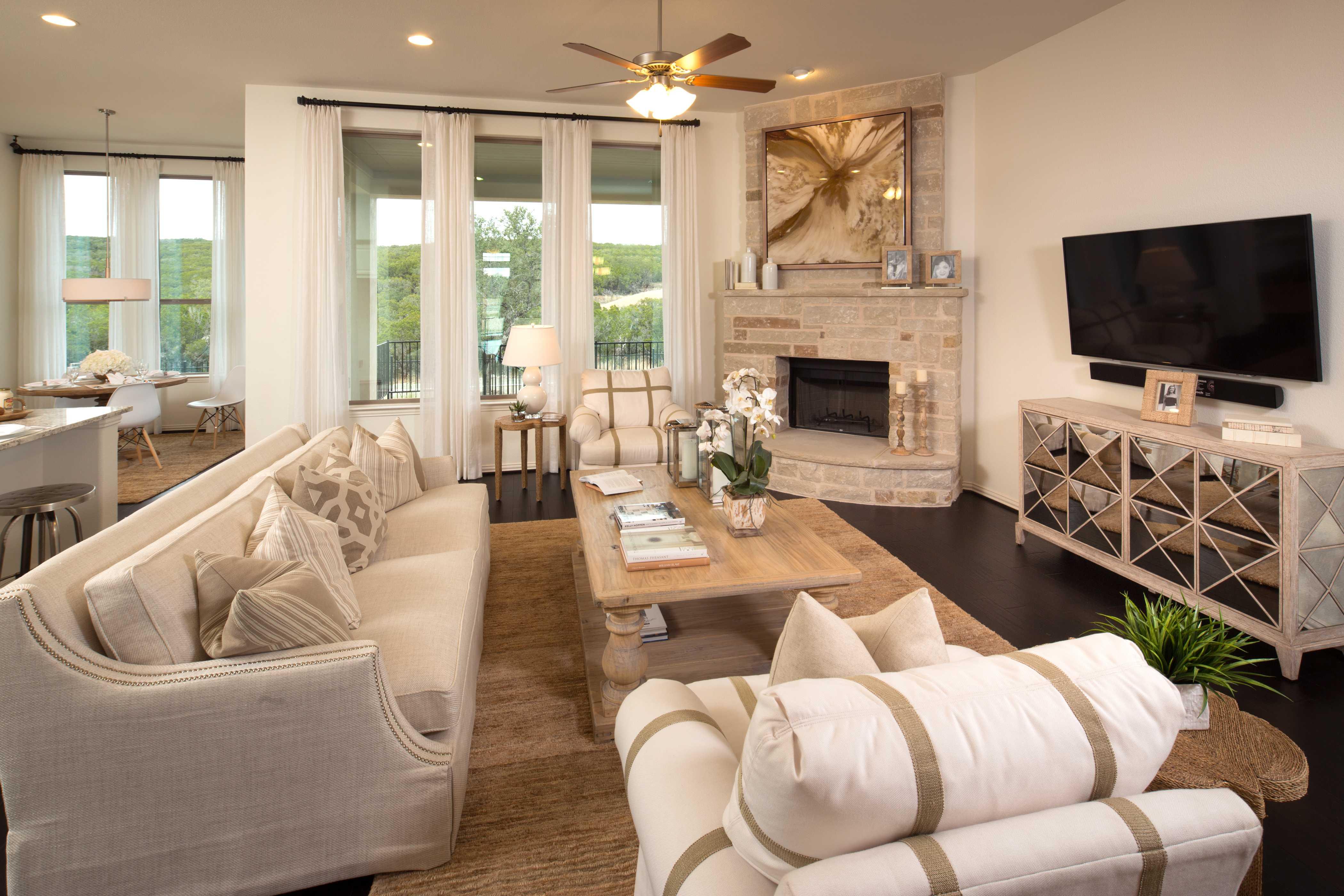 Representative Photo   Family Room. New Home Plan 229 in San Antonio  TX 78254