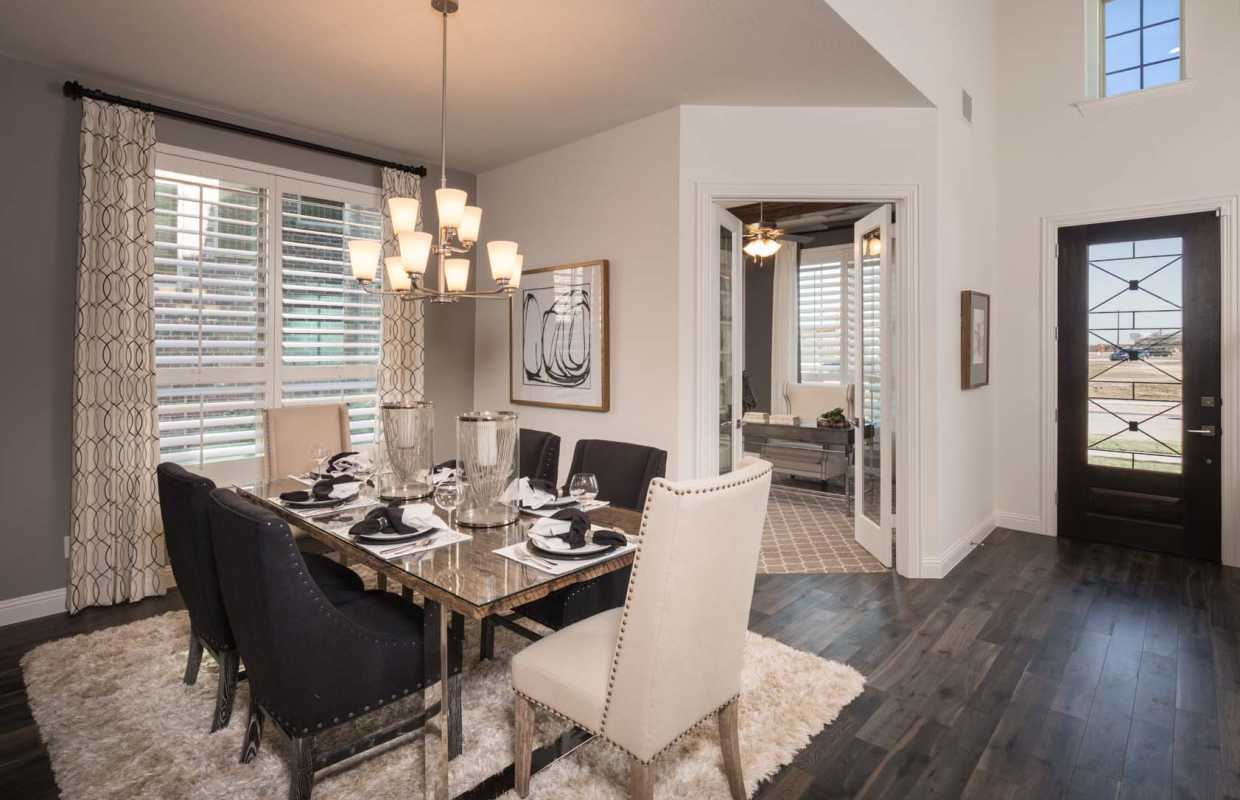 Model Home In Dallas Fort Worth Texas Prairie View Community