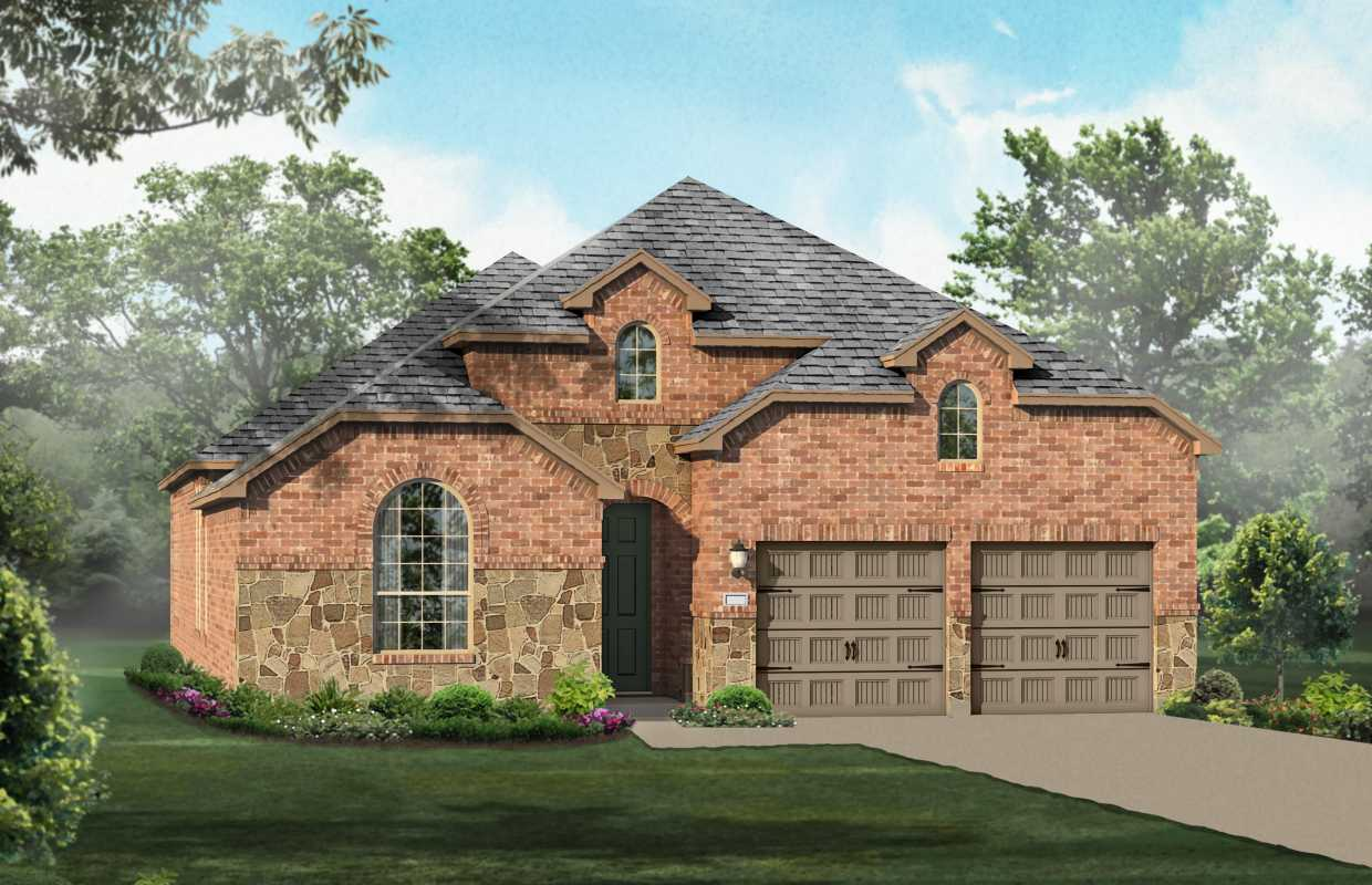 New home plan 539 in richmond tx 77407 for Houston house elevation