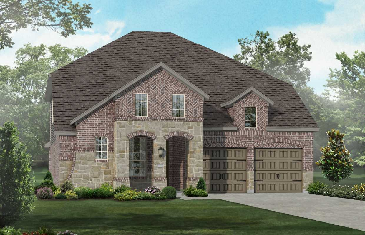 Caption Elevation A New Home Plan