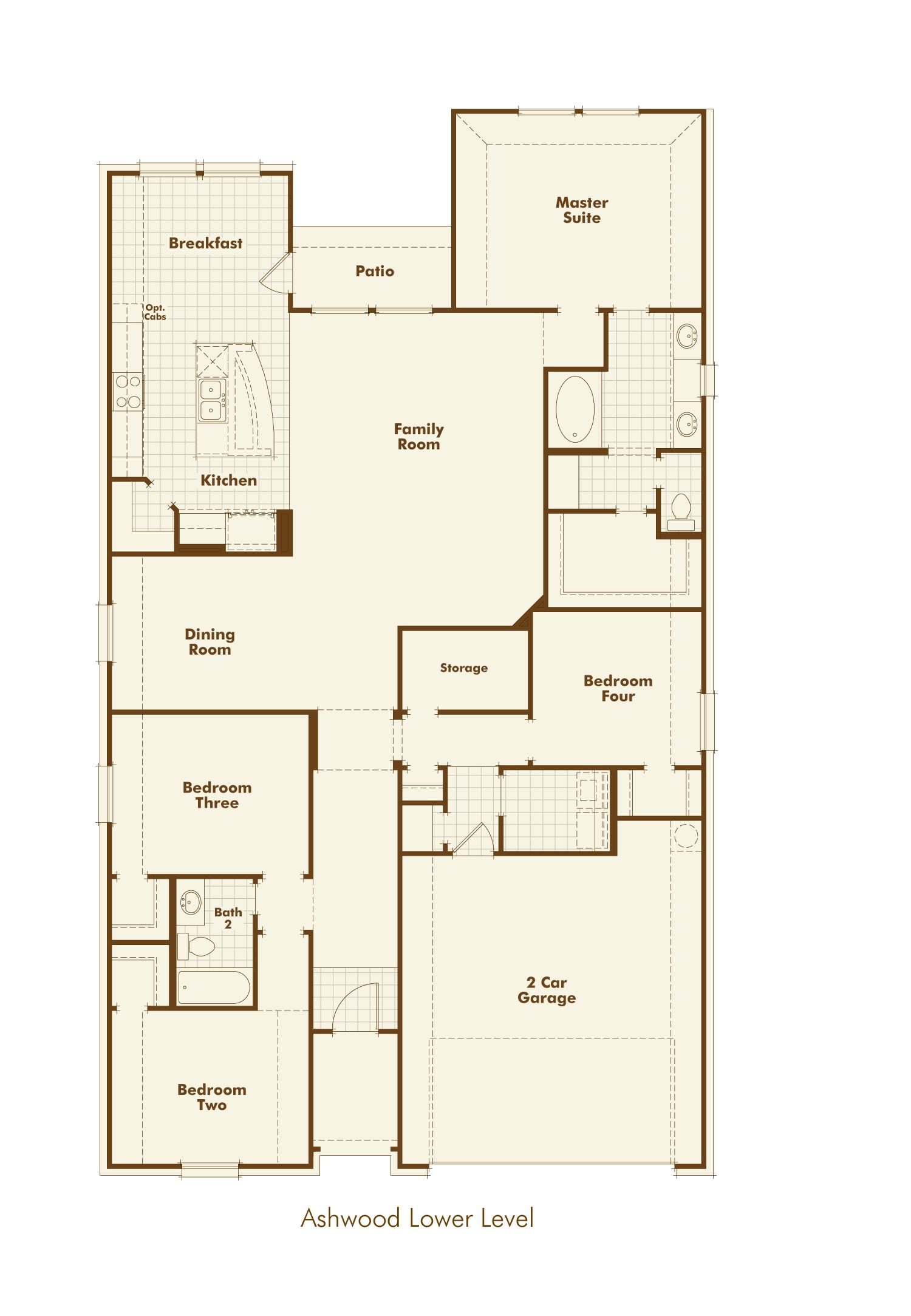 Plan Ashwood Highland Homes Sandbrock Ranch Aubrey