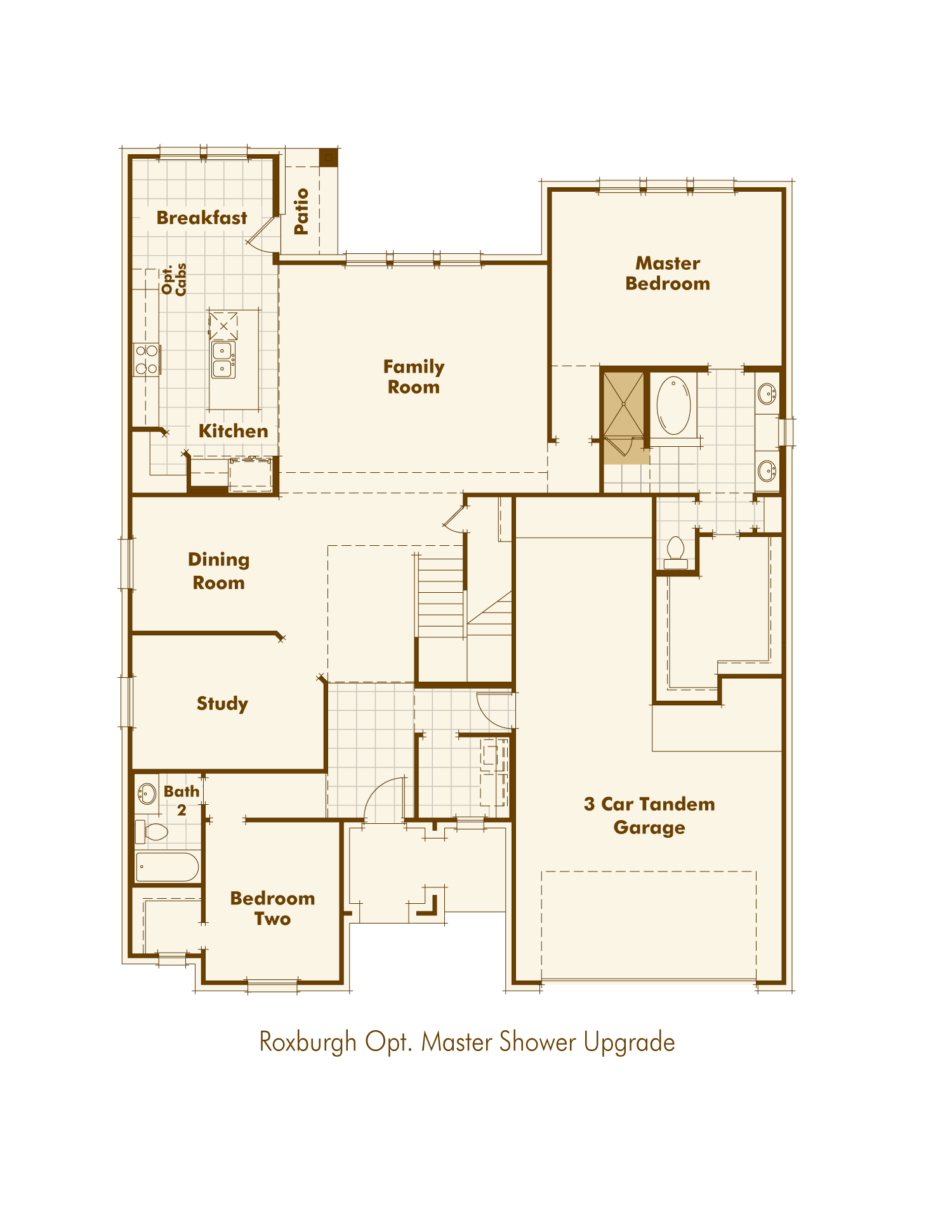 New Home Plan Roxburgh from Highland Homes Ranch Bat House Plan Without Garage on ranch house plans with wrap, ranch house with double front door, ranch style house plans, ranch house front entrance, ranch style modular home plans,