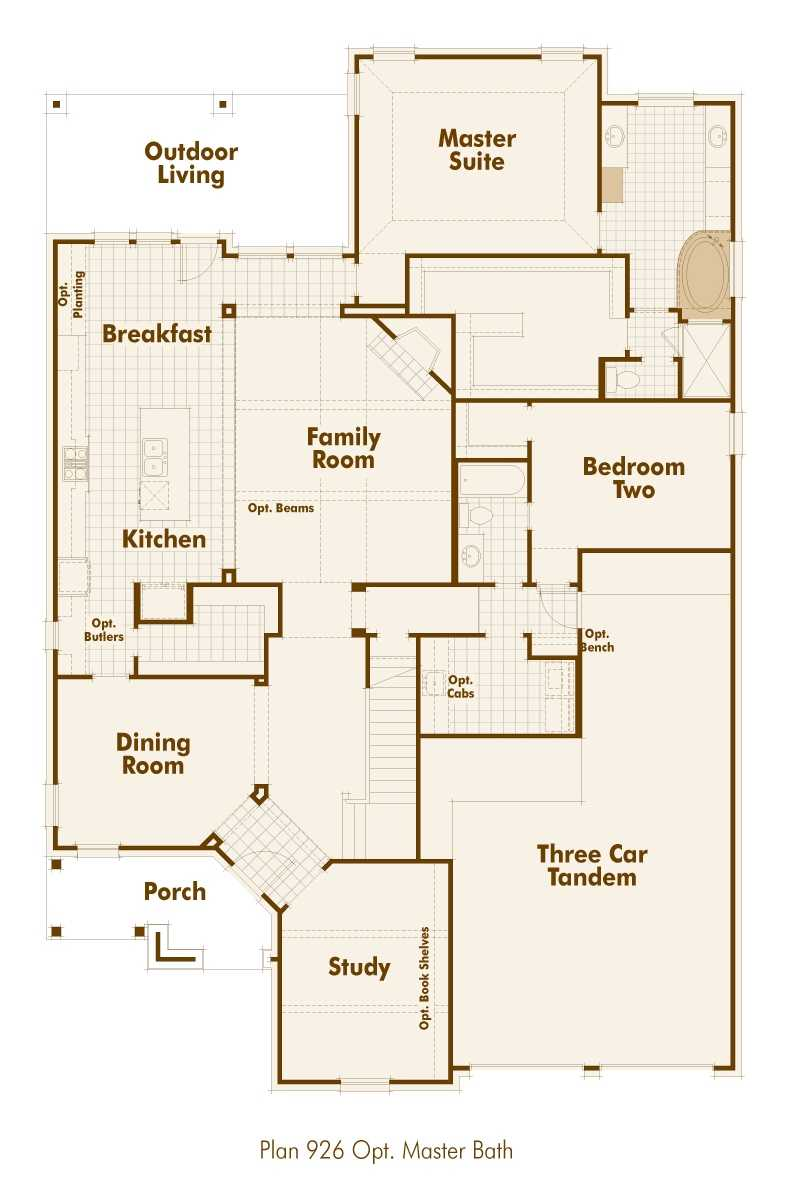 New home plan 926 in prosper tx 75078 for Floor plans texas
