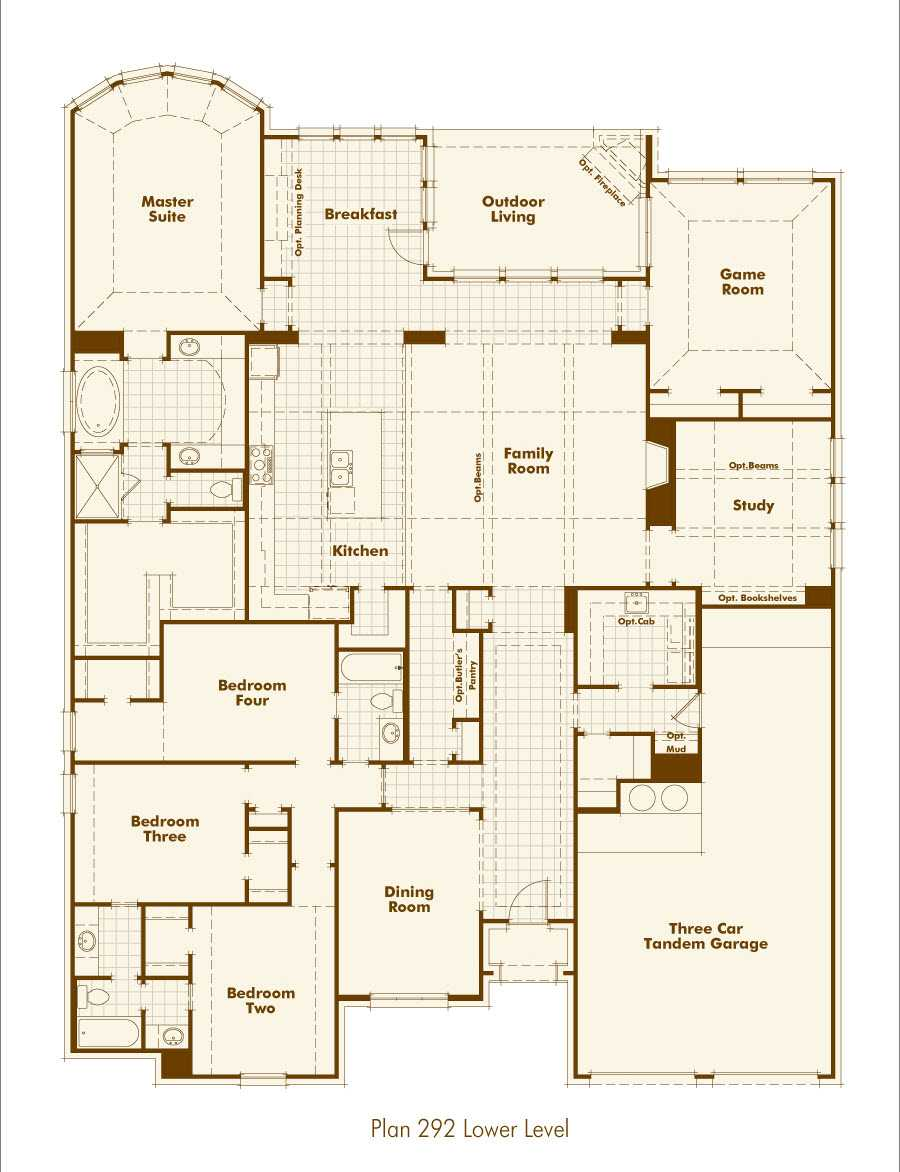 New home plan 292 in prosper tx 75078 for Texas home builders floor plans