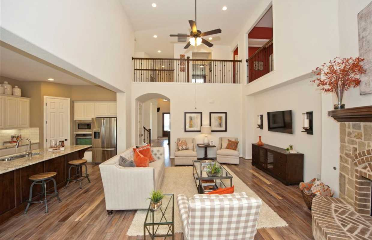 Highland Homes  Caption. Model Home in Austin Texas  Parkside at Mayfield Ranch 70s community